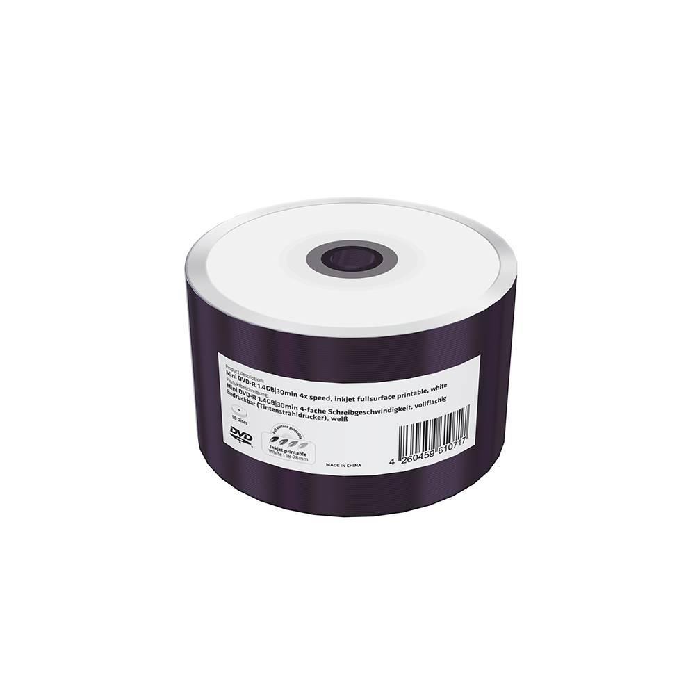 MediaRange Mini DVD-R 1.4GB|30min 4x speed, inkjet fullsurface printable, Shrink 50 (MR436)