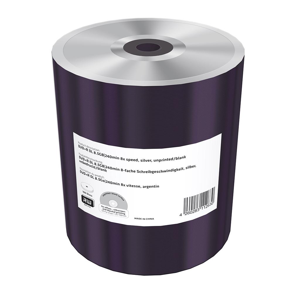 MediaRange DVD+R Double Layer 8.5GB|240min 8x speed, silver, unprinted/blank, Shrink 100 (MR472)