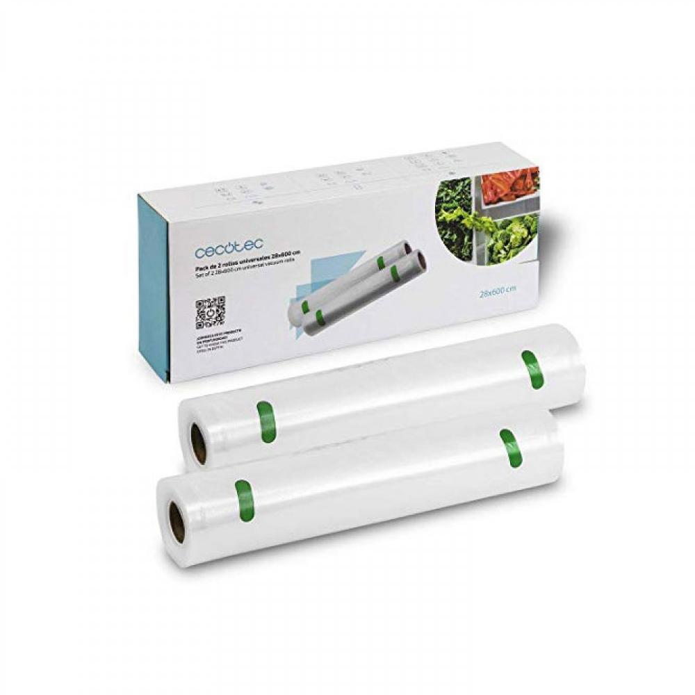 Σακούλες για Αεροστεγές Σφράγισμα Τροφίμων 28 x 600 cm 2 Ρολά Cecotec (CEC-04072) (CEC04072)