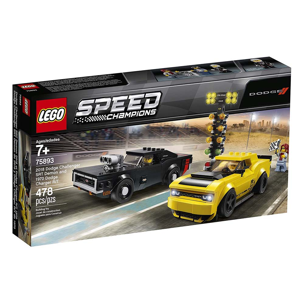 Lego Speed Champions: 2018 Dodge Challenger SRT Demon and 1970 Dodge Charger R/T (75893)