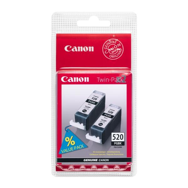 Canon Μελάνι Inkjet PGI-520BKTP Black Twin Pack (2932B012) (CANPGI-520BKTP)