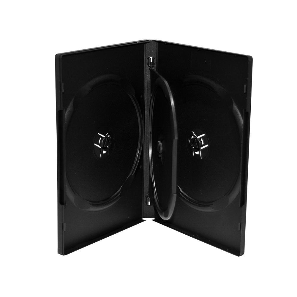MediaRange DVD Case for 3 discs 14mm Black (MRBOX15)
