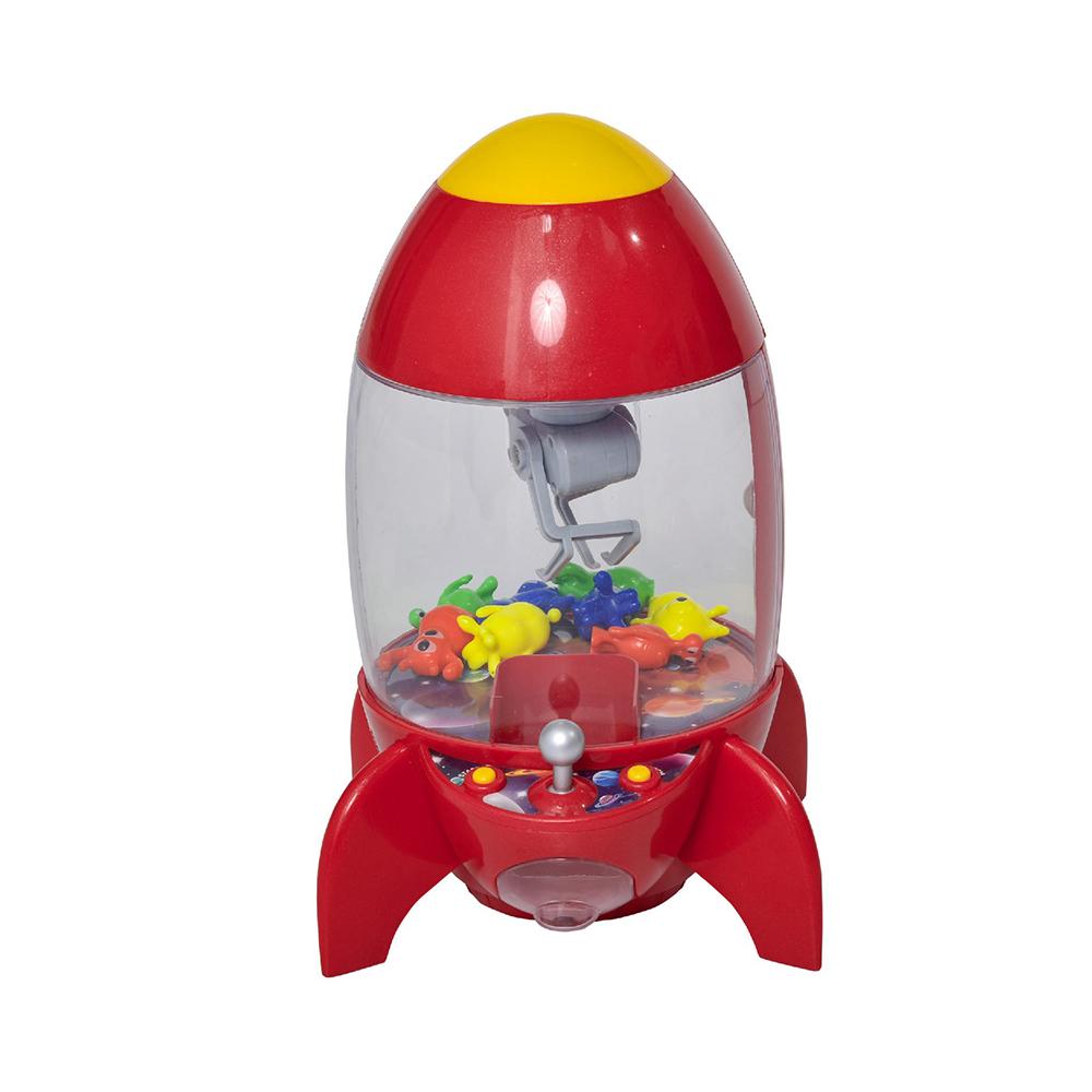 Homcom Red Rocket Shape Puppet Fishing Machine με φώτα, ήχους και 8 εξωγήινους για παιδιά 3-8 ετών (350-069) (HOM350-069)
