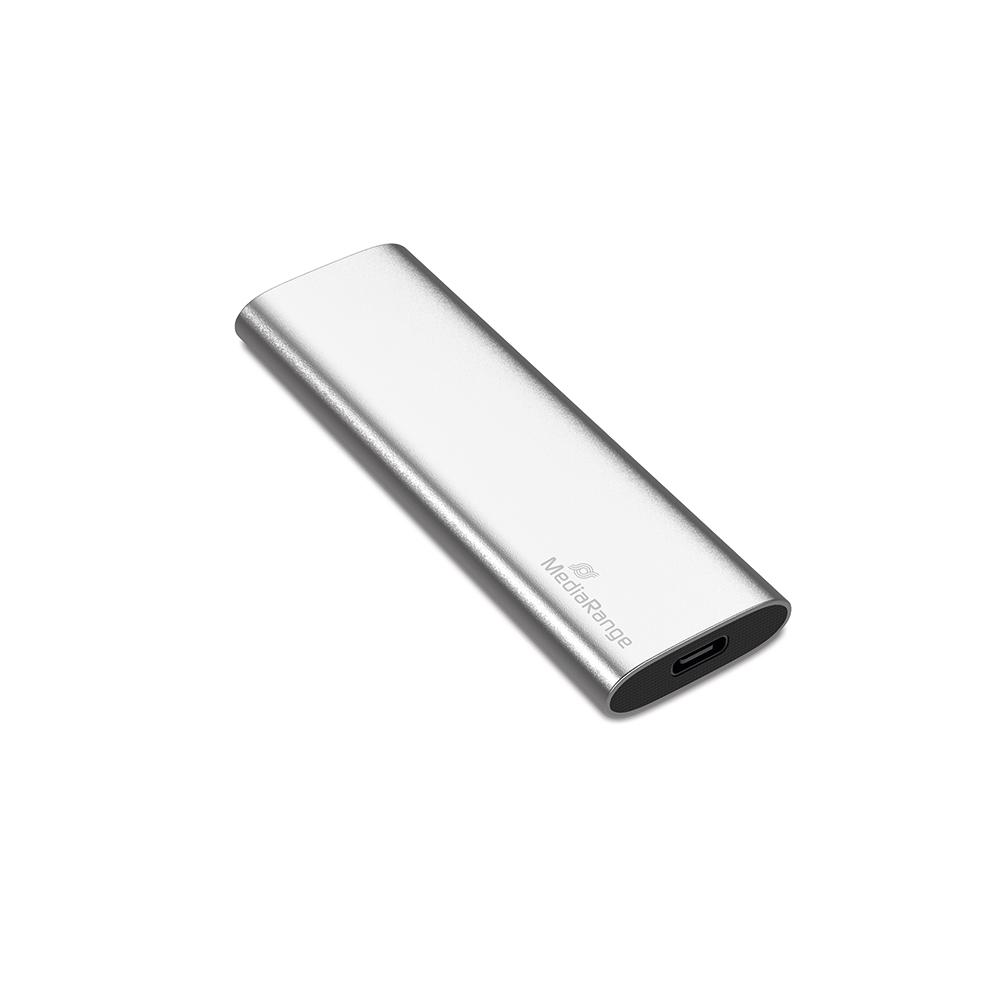 MediaRange Εξωτερικός Σκληρός Δίσκος SSD USB Type-C 960GB (Silver) (MR1103)