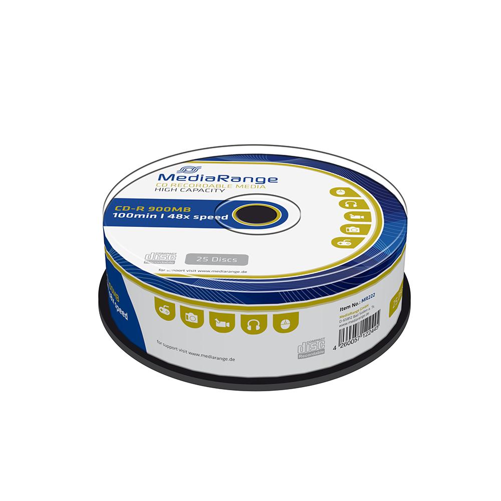 MediaRange CD-R 100' 900MB 48x Cake Box x 25 (MR222)