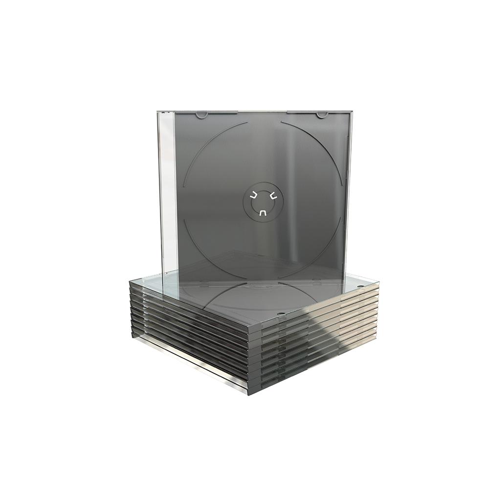 MediaRange CD Slimcase for 1 disc 5.2mm machine packing grade Black tray (MRBOX21-M)