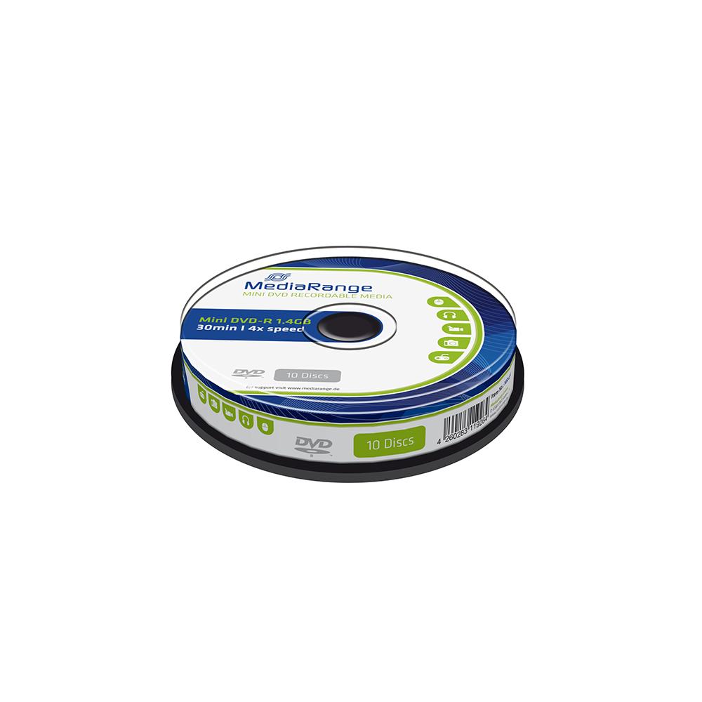 MediaRange Mini DVD-R 30' 1.4GB 4x Cake box x 10 (MR434)