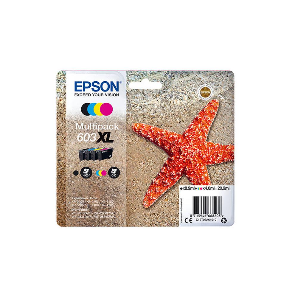 Epson Μελάνι Inkjet 603XL Multipack (C13T03A64010) (EPST03A640)