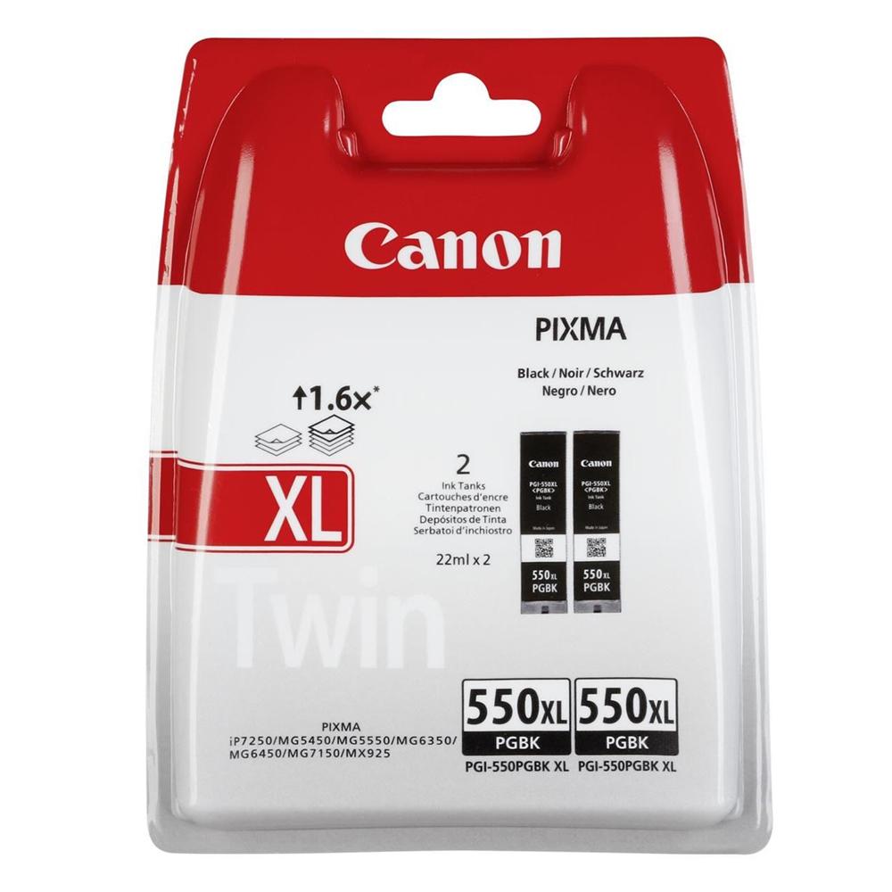 Canon Μελάνι Inkjet PGI-550XL HC Black Twin Pack (6431B005) (CANPGI-550XLBTP)