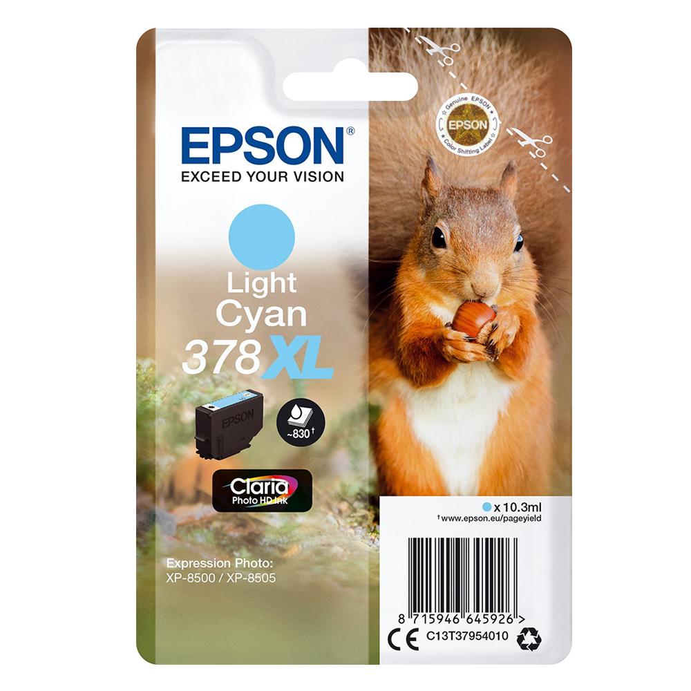 Epson Μελάνι Inkjet 378XL Light Cyan (C13T37954010) (EPST379540)