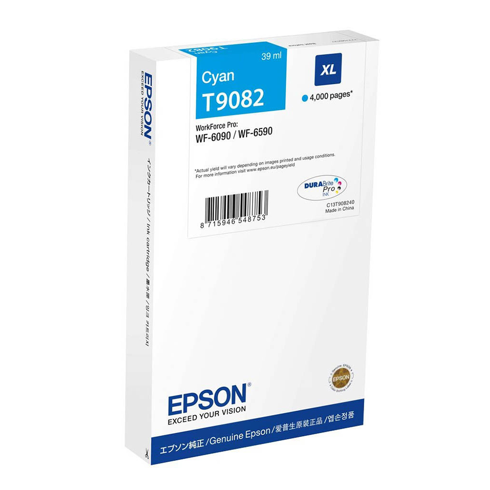 Epson Μελάνι Inkjet T9082 Cyan (C13T908240) (EPST908240)