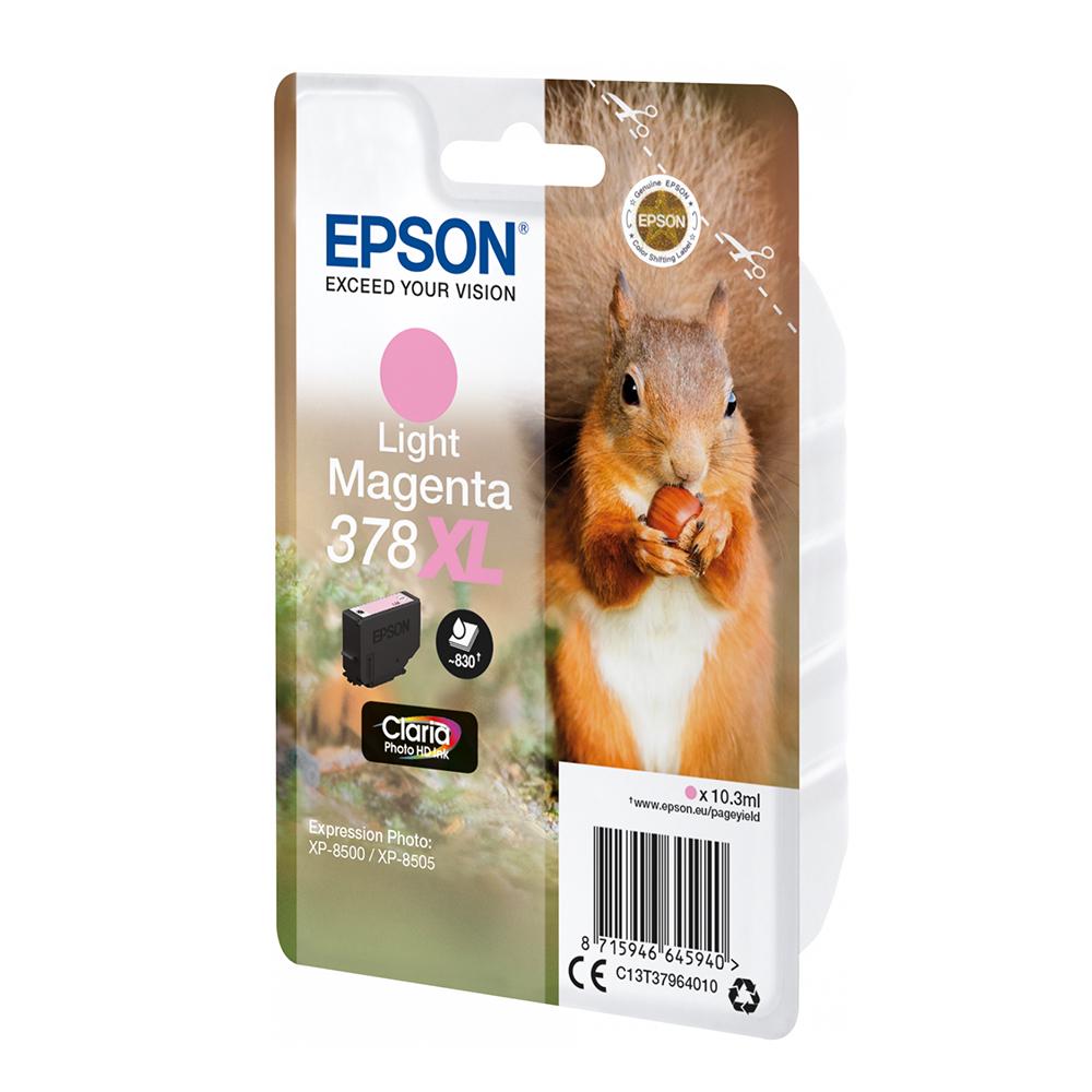 Epson Μελάνι Inkjet 378XL Light Magenta (C13T37964010) (EPST379640)