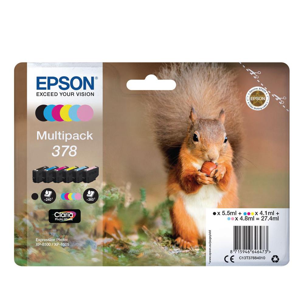 Epson Μελάνι Inkjet 378 Multipack (C13T37884010) (EPST378840)