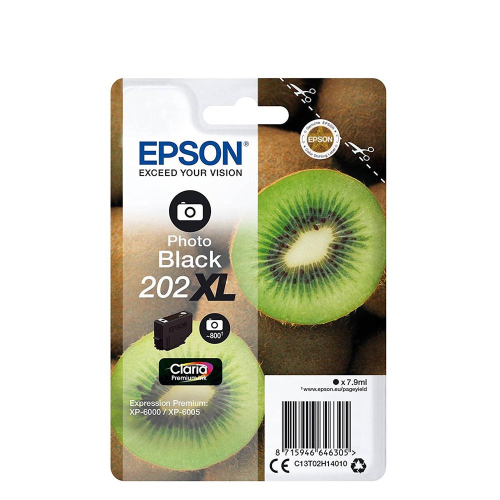 Epson Μελάνι Inkjet 202XL Photo Black (C13T02H14010) (EPST02H140)