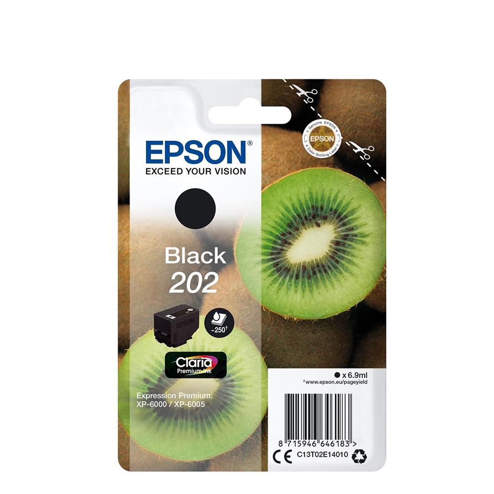 Epson Μελάνι Inkjet 202 Black (C13T02E14010) (EPST02E140)