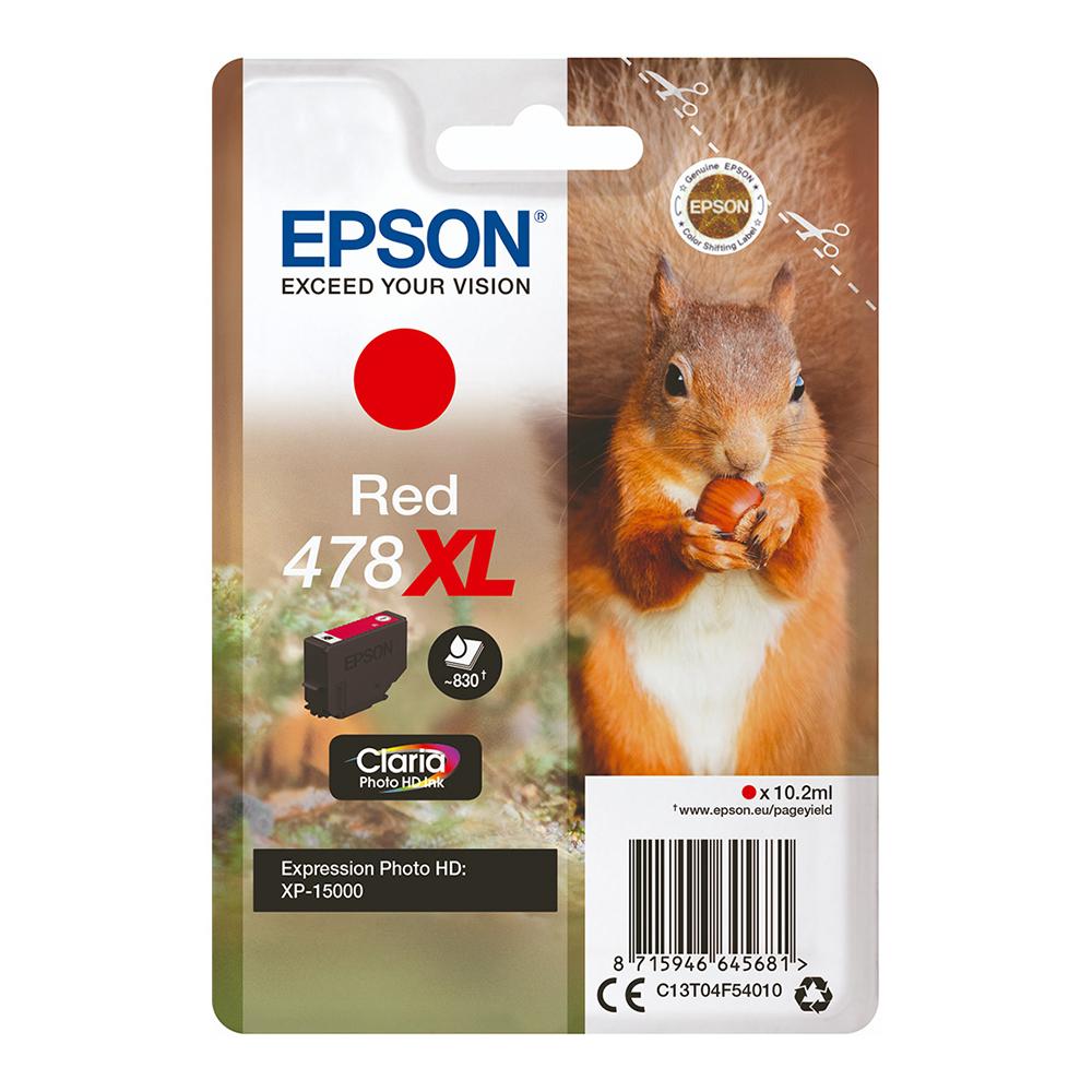 Epson Μελάνι Inkjet 478XL Red (C13T04F54010) (EPST04F540)