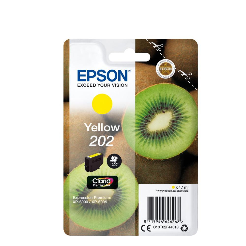 Epson Μελάνι Inkjet 202 Yellow (C13T02F44010) (EPST02F440)