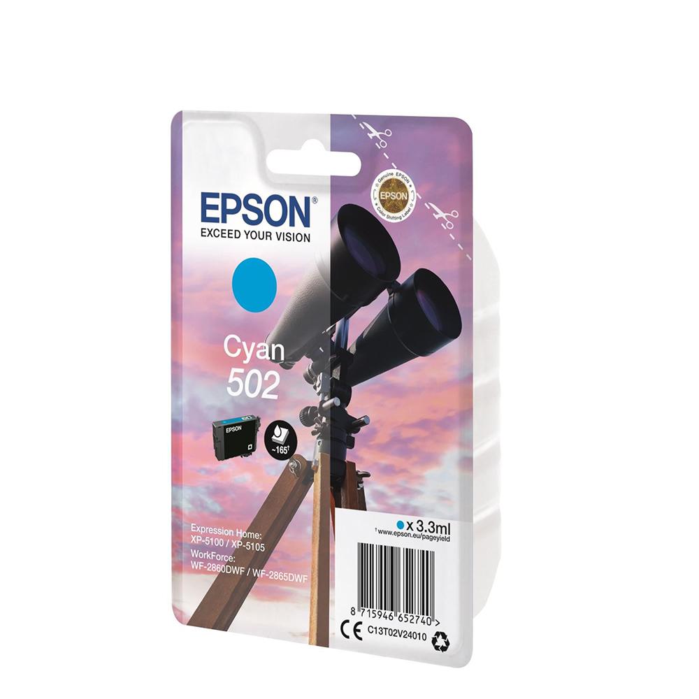 Epson Μελάνι Inkjet 502 Cyan (C13T02V24010) (EPST02V240)