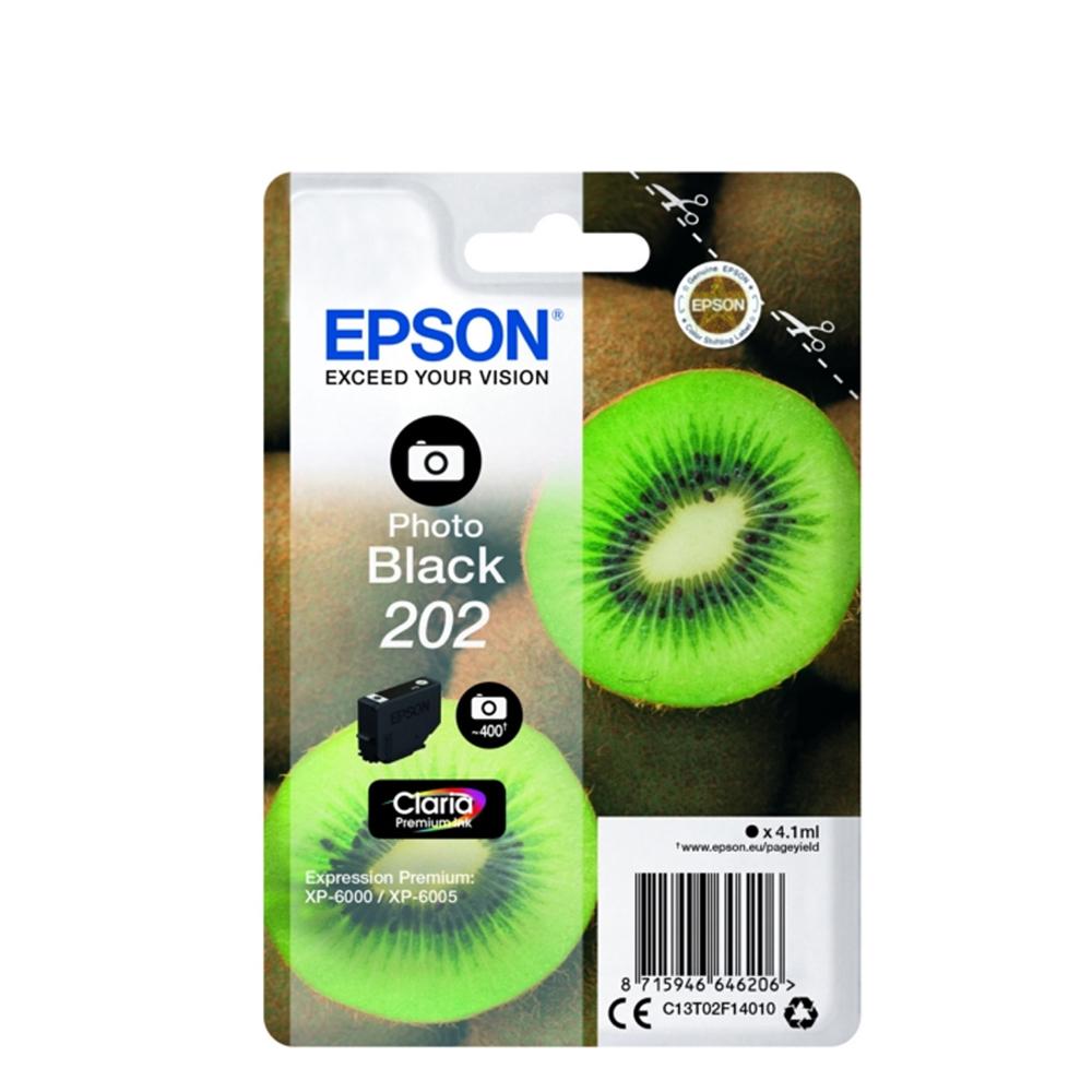 Epson Μελάνι Inkjet 202 Photo Black (C13T02F14010) (EPST02F140)