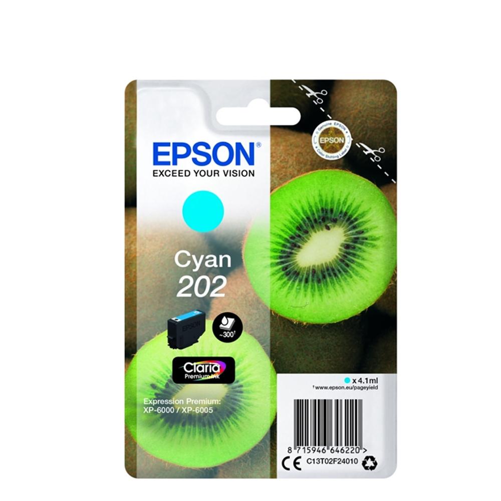 Epson Μελάνι Inkjet 202 Cyan (C13T02F24010) (EPST02F240)