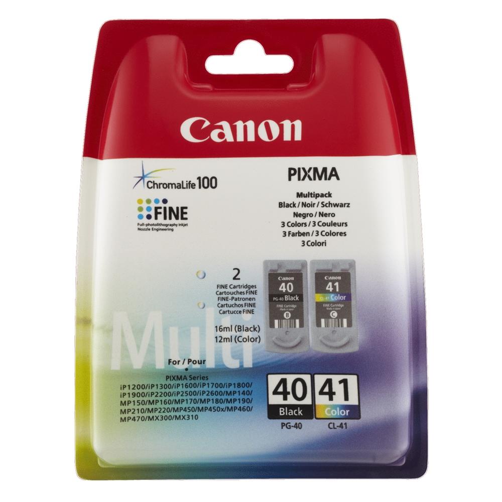 Canon Μελάνι Inkjet PG 40 & CL 41 Black & Colour (0615B043) (CANPG-40MPK)