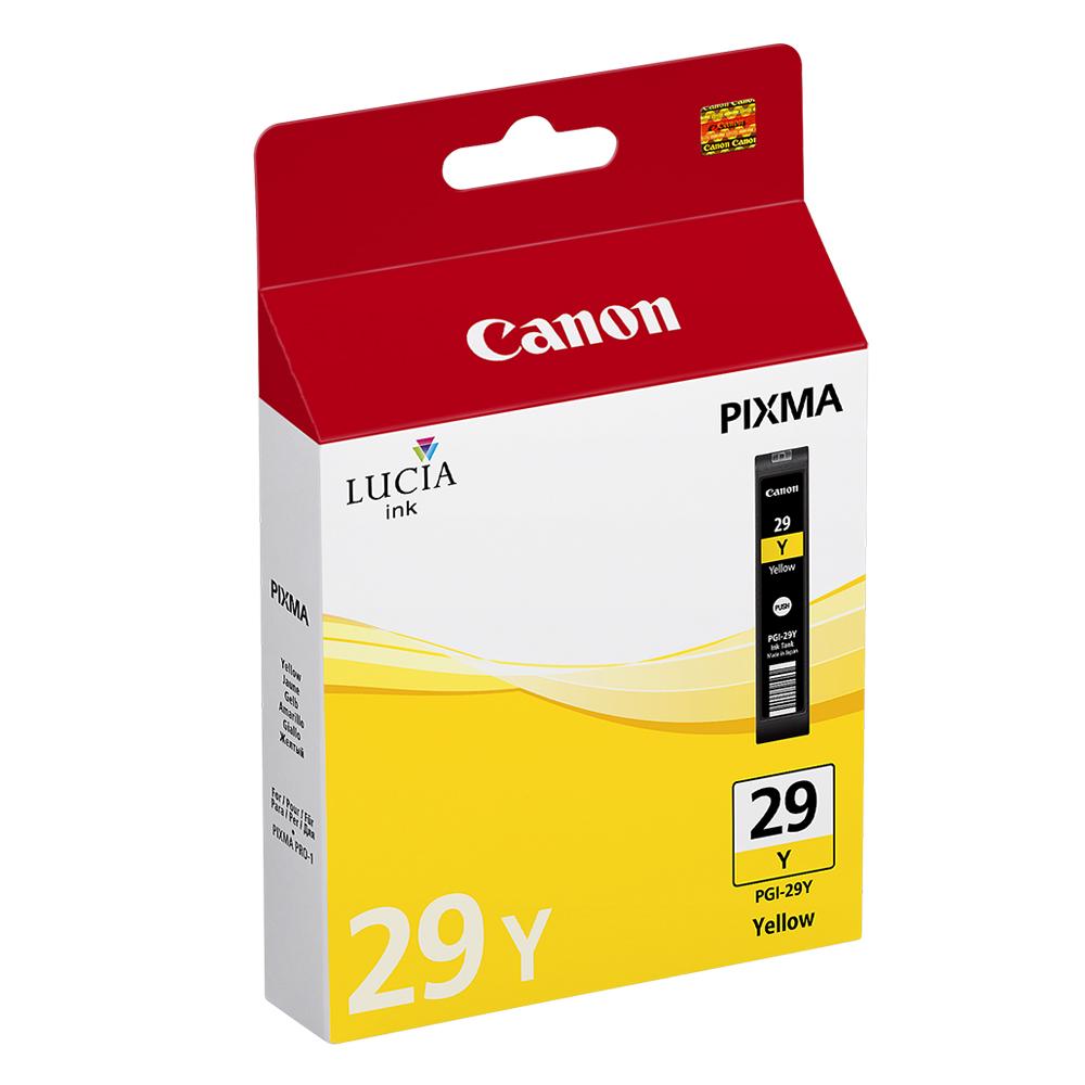 Canon Μελάνι Inkjet PGI-29Y Yellow (4875B001) (CANPGI-29Y)