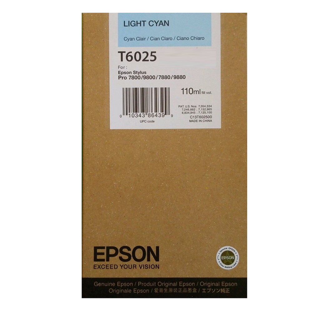 Epson Μελάνι Inkjet T6025 Light Cyan (C13T602500) (EPST602500)