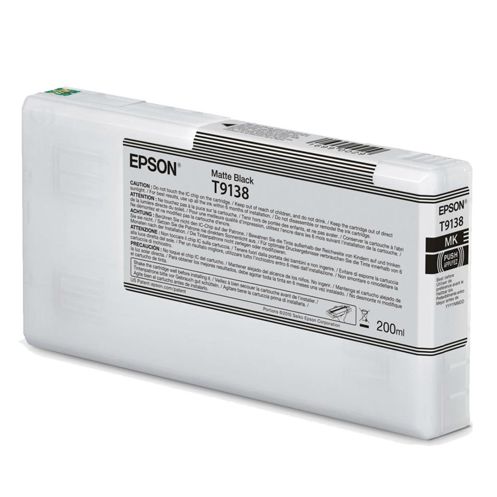Epson Μελάνι Inkjet T9138 Matte Black (C13T913800) EPST913800