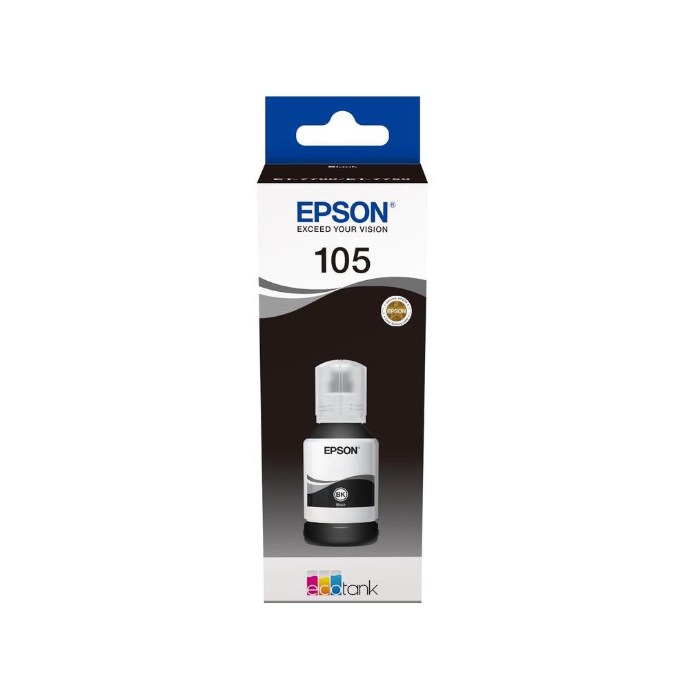 Epson Μελάνι Inkjet 105 Black (C13T00Q140) (EPST00Q140)