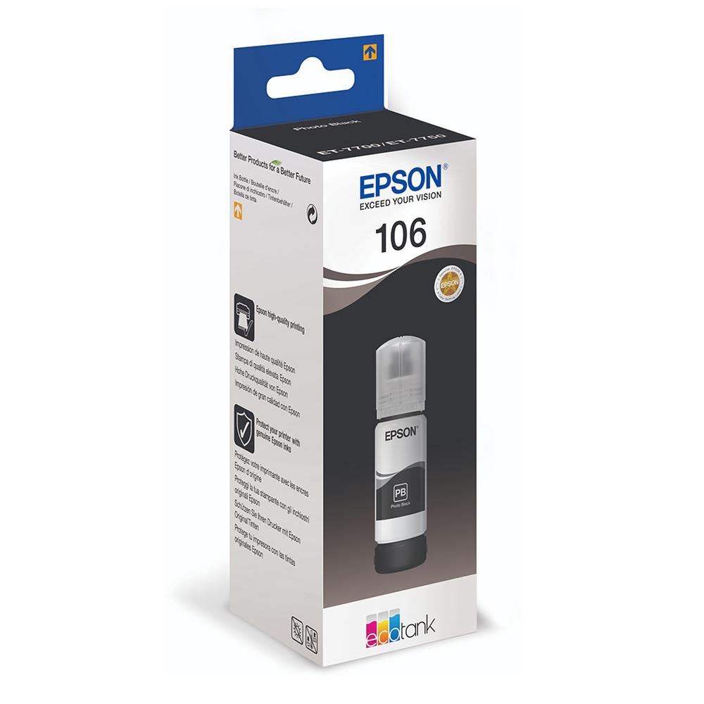 Epson Μελάνι Inkjet 106 Photo Black (C13T00R140 )(EPST00R140)