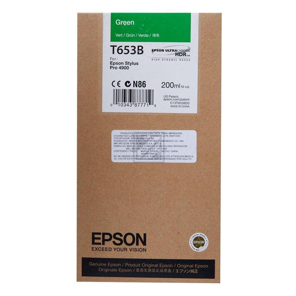 Epson Μελάνι Inkjet T653B Green (C13T653B00) (EPST653B00)