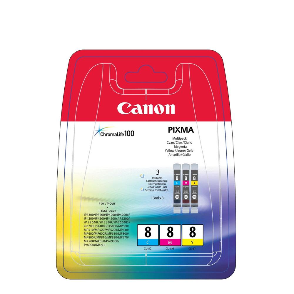 Canon Μελάνι Inkjet CLI-8MPK1 Multipack (0621B029) (CANCLI-8MPK1)