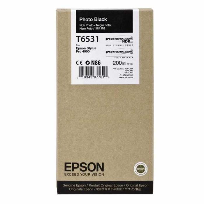 Epson Μελάνι Inkjet T6531 Photo Black (C13T653100) (EPST653100)