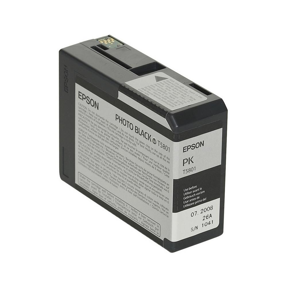 Epson Μελάνι Inkjet T5801 Black (C13T580100) (EPST580100)