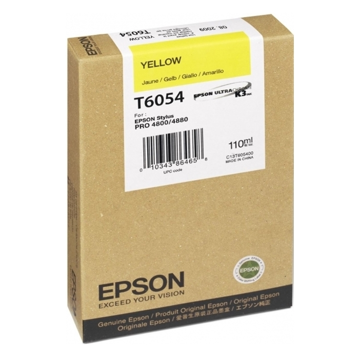 Epson Μελάνι Inkjet T6054 Yellow (C13T605400) (EPST605400)