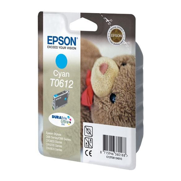 Epson Μελάνι Inkjet T0612 Cyan (C13T06124010) (EPST061240)