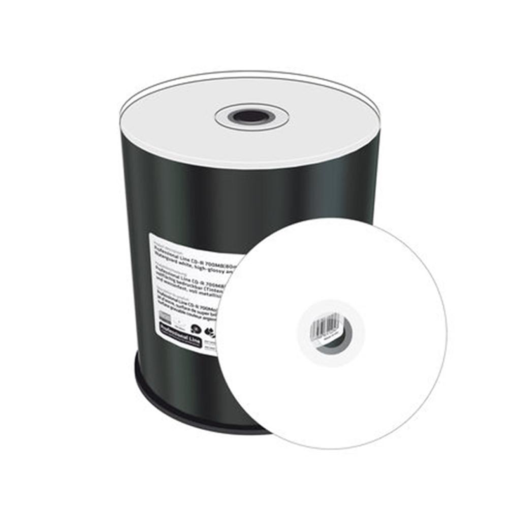 MediaRange CD-R 80' 700MB 52x Inkjet fullsurf. print., Proselect white, wide sputtered, Cake 100 (MRPL501-C)