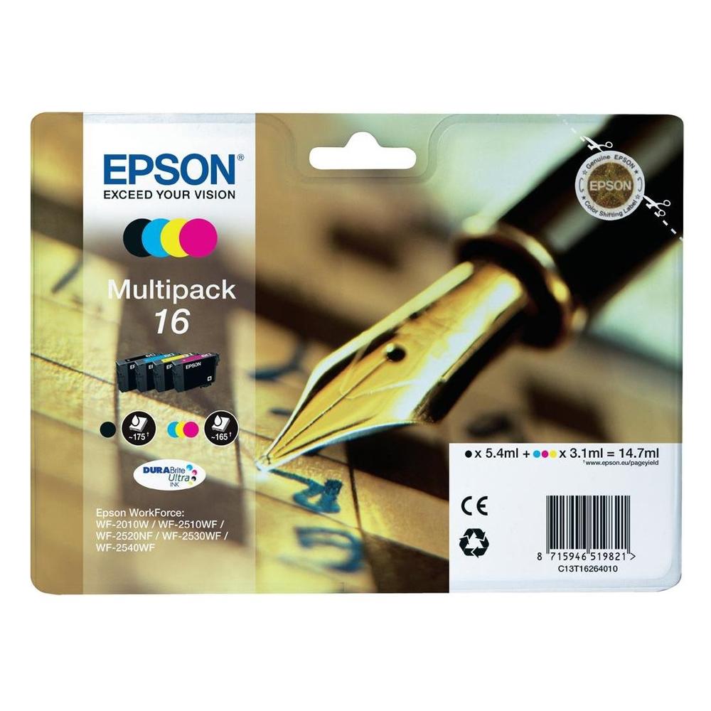 Epson Μελάνι Inkjet No.16 Multipack (C13T16264012) (EPST162640)