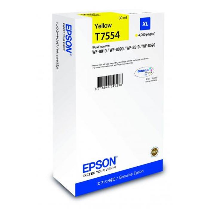 Epson Μελάνι Inkjet T7554 Yellow XL (EPST755440)