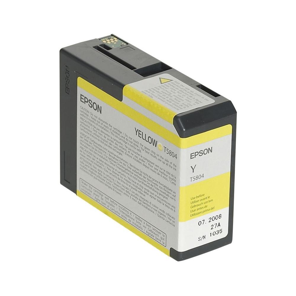 Epson Μελάνι Inkjet T5804 Yellow (C13T580400) (EPST580400)