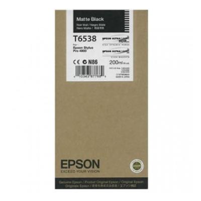 Epson Μελάνι Inkjet T6538 Matte Black (C13T653800) (EPST653800)