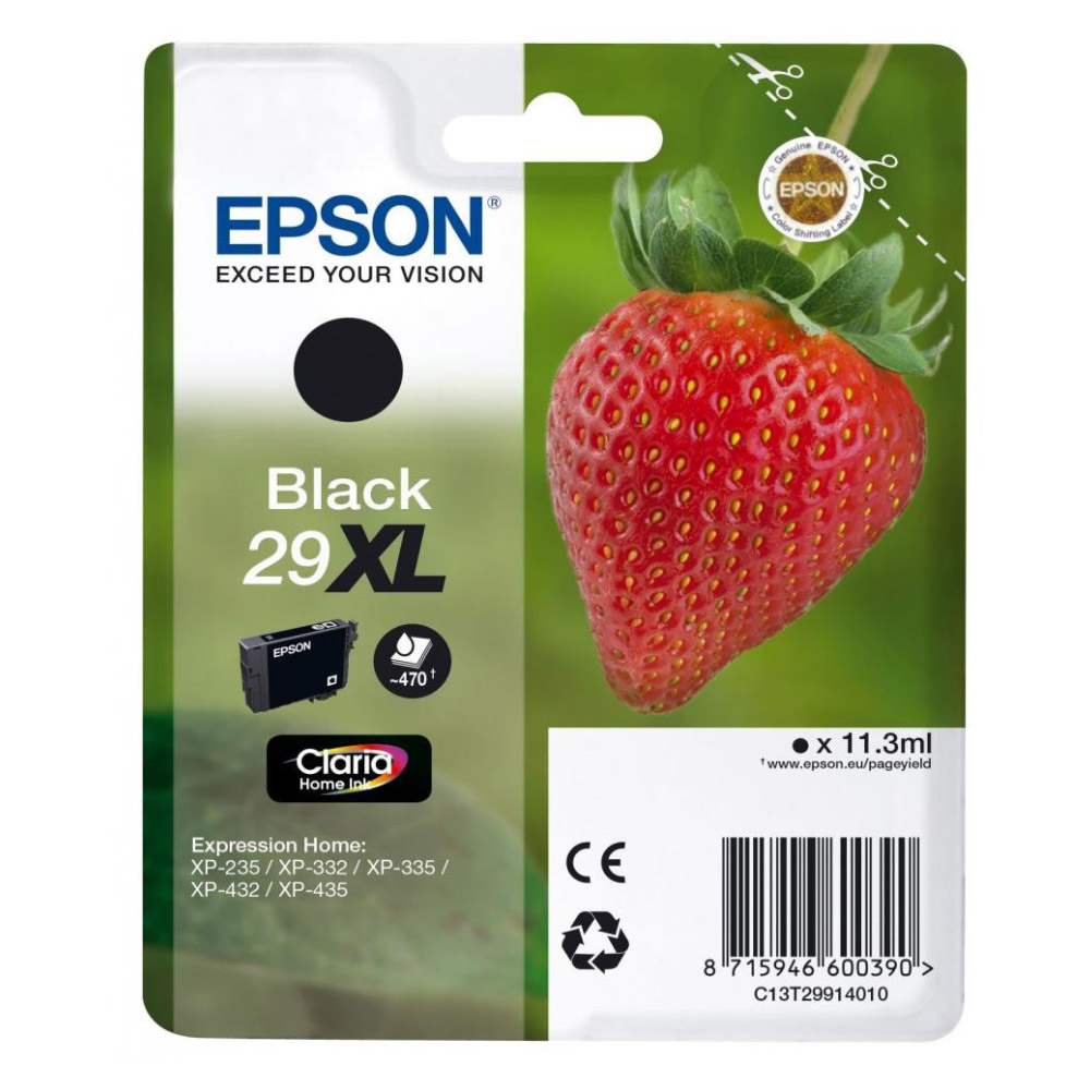 Epson Μελάνι Inkjet Series 29 Black XL (C13T29914012) (EPST299140)