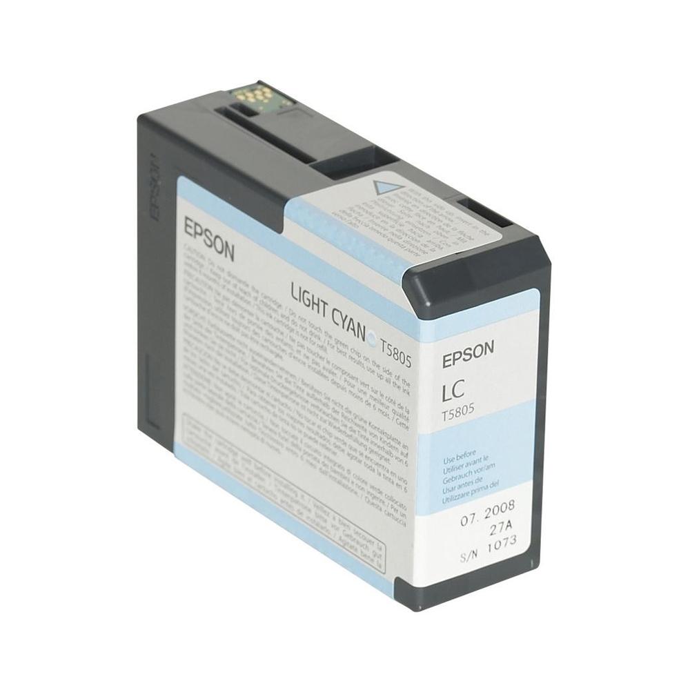 Epson Μελάνι Inkjet T5805 Light Cyan (C13T580500) (EPST580500)