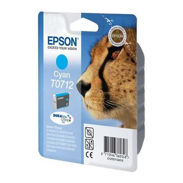 Epson Μελάνι Inkjet T0712 Cyan (C13T07124012) (EPST071240)