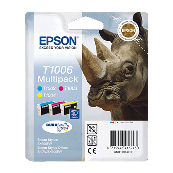 Epson Μελάνι Inkjet T1006 Multipack (C13T10064010) (EPST100640)