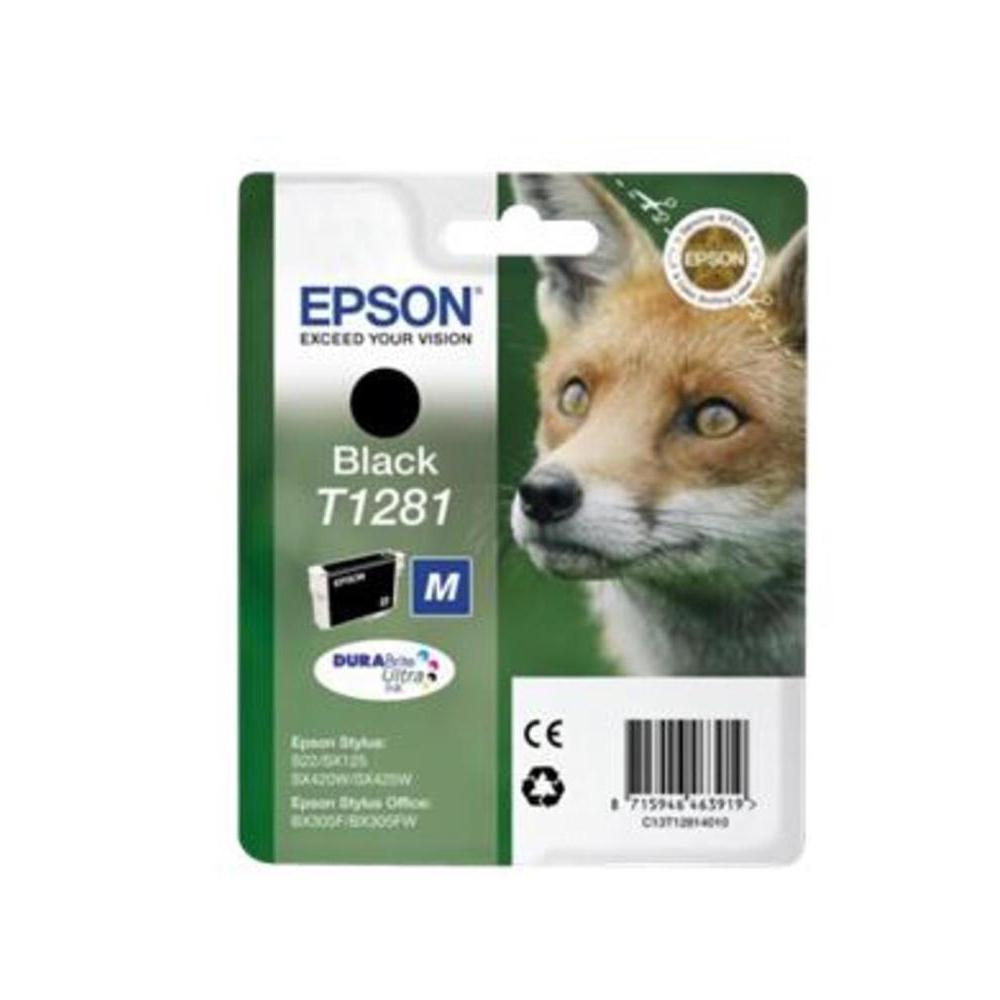 Epson Μελάνι Inkjet T1281 Black (C13T12814012) (EPST128140)
