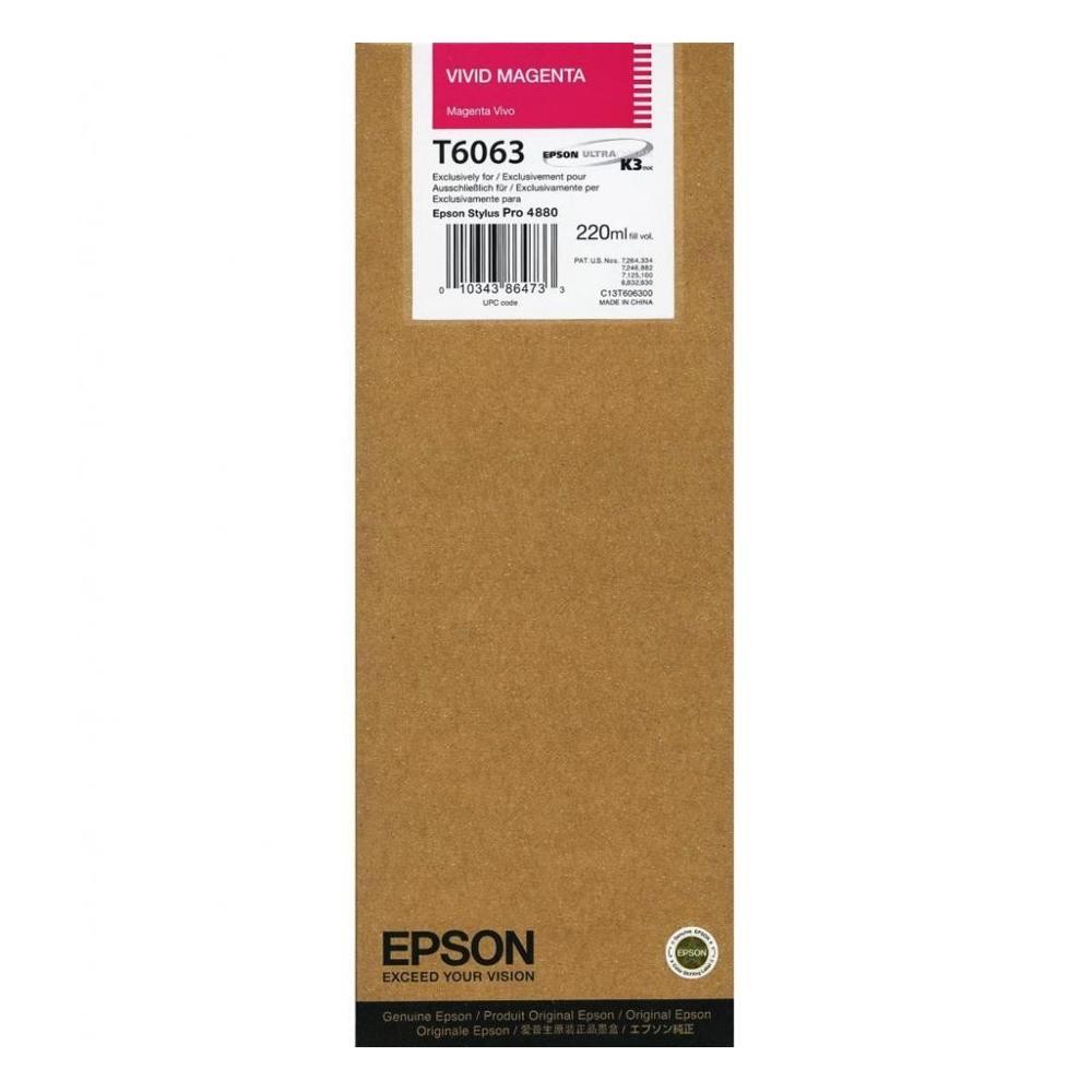 Epson Μελάνι Inkjet T6063 Vivid Magenta (C13T606300) (EPST606300)