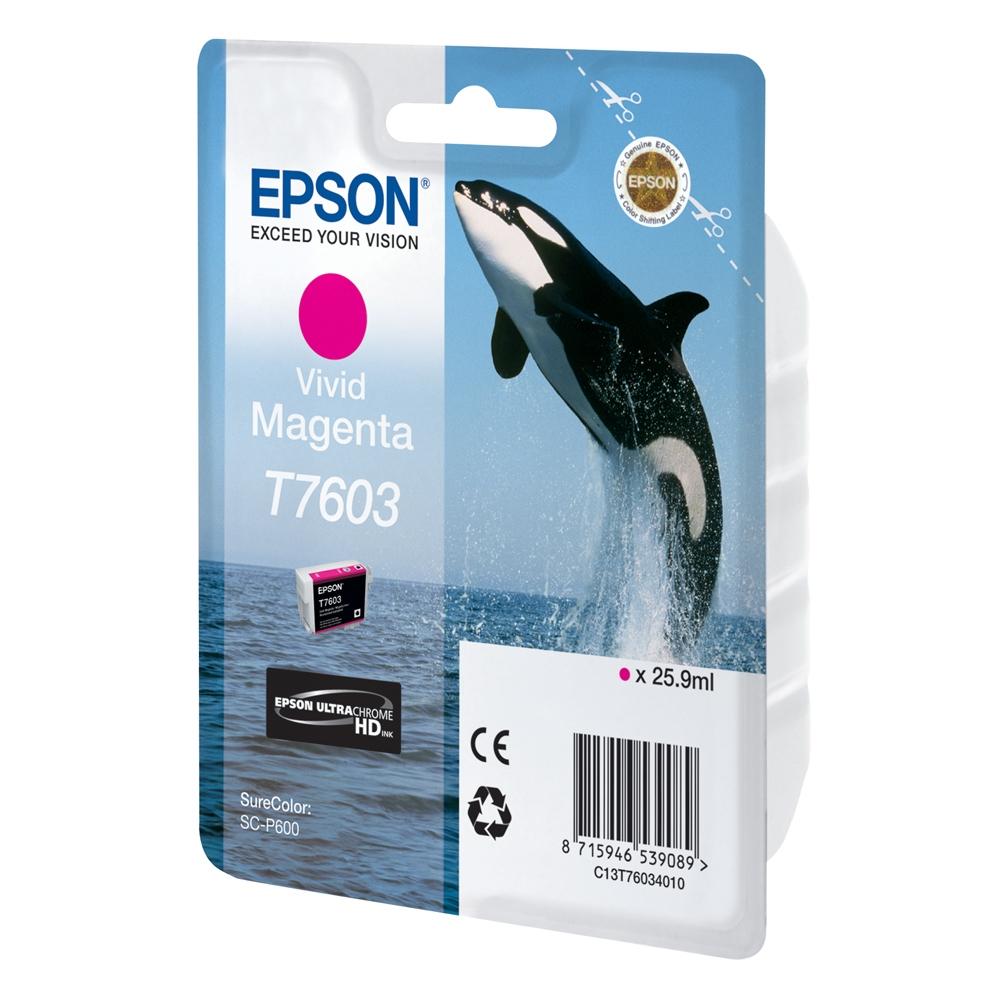 Epson Μελάνι Inkjet T7603 Vivid Magenta (C13T76034010) (EPST760340)