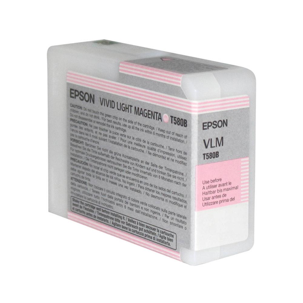 Epson Μελάνι Inkjet T580B Vivid Light Magenta (C13T580B00) (EPST580B00)