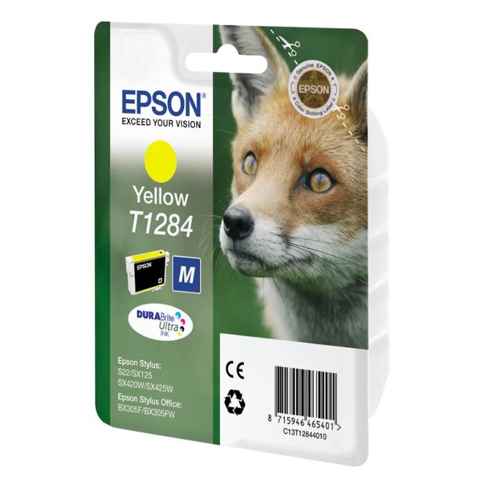 Epson Μελάνι Inkjet T1284 Yellow (C13T12844012) (EPST128440)